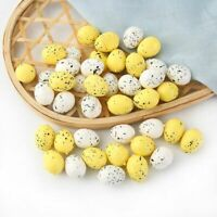 30Pcs Foam Easter Eggs Happy Easter Decoration Painted Bird Pigeon Egg DIY Craft