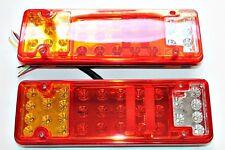 2x Rear Stop Tail LED Lights Indicator 12V 24V Truck Lorry  Tracktor .. Bus Van