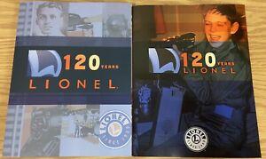 LIONEL TRAINS 2020 VOLUME 1 & 2 CATALOG 120 YEARS SCALE O GAUGE LIONCHIEF LEGACY