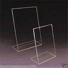 A5 PORTRAIT ACRYLIC ANGLED MENU POSTER HOLDER SINGLE SIDED RETAIL COUNTER STANDS