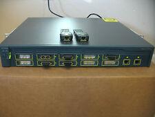 Cisco WS-C3550-12G ETHERNET SWITCH w/ 2 Genuine Cisco 1000BASE-T GBIC WS-G5483