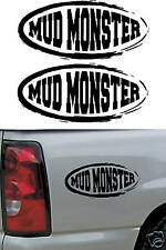 2 - 4x4 Mud Monster Truck Decals / Stickers  - Universal Offroad Decal - Dodge
