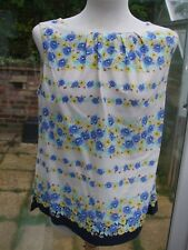 Gorgeous Cotton Floral Print  Summer Top- DOROTHY PERKINS- 16