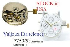 New ! 7750 Automatic Day Date Chronograph Clone Movement for Eta Valjoux substit