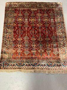 100% pure silk Antique Kushan circa 1890 extra fine weave  3x3