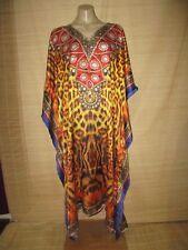 Embellished Digital Print KAFTAN beach HIPPY boho DRESS One size (14-24 best) #1