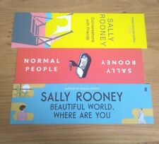 More details for sally rooney. 3 x bookmarks for her 3 books.  [ books not included ]