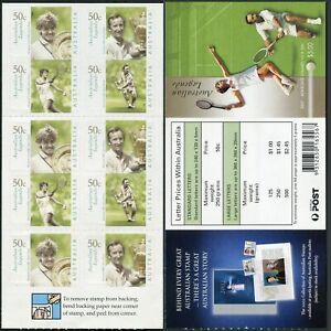 Australia 2129-2132a booklet,MNH. Australian Legends,2003.Tennis players.