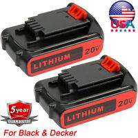 2X For Black & Decker 20V 2.5AH Lithium Battery LBXR20 LB20 LB2X4020 LBXR20-OPE