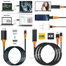 Tipo-C USB-C a 4K HDMI HDTV TV Cable Adaptador Para Samsung Galaxy S10 9 Mac Note