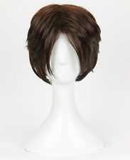 Anime Final Fantasy Squall Leonhart Wig Styled Short Brown Cosplay Costume Wigs