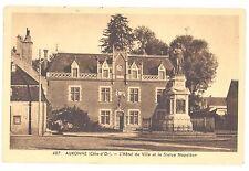 CPA 21 - AUXONNE (Côte d'Or) - 407. L'Hôtel de VIlle et la Statue Napoleon