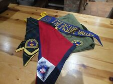 More details for american scouting bundle - 4 neckerchiefs  and order of the arrow handbook 1961