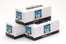 Ilford FP4+ 125asa Black & White 120 Roll Film 3 Rolls Expiry Date 03/2022