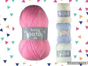 Cygnet's Pato Baby DK Acrylic Yarn Knitting Crochet Wool - 10 x 100g PACK OF TEN
