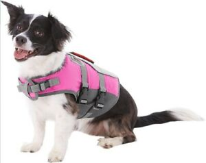NEW KONG AquaSport Dog Flotation Vest Life Jacket Reflection Small Pink