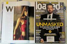 LOADED UK IMPORT Sexy JENNIFER GARNER Ben Affleck UNMASKED Heroes Issue Jan 2015