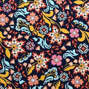 Urban Wilderness floral navy blue fabric by Robert Kaufman - CLEARANCE!