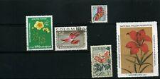 FLOWERS OF  BULGARIA,- COLOMBIA,- GABON.- NATIONAL WILDLIFE  1970s