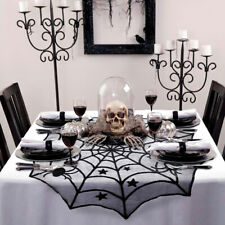 Scary Halloween Lace Table Cloth Cover Door Window Curtain Party Decorations