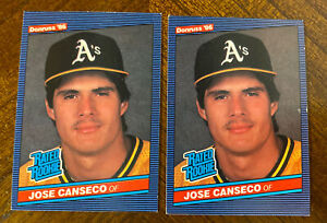 (2)1986 Donruss RC Jose Canseco Rated Rookie # 39 LOT OF 2 EX READ