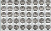 Canada 1963 Five Cent UNC BU MS Nickel Roll of 40 Coins!!