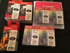 Genuine Canon BC-20 & BCI-21 Black Ink & BC-22E New Lot of 7 Expiration Unknown