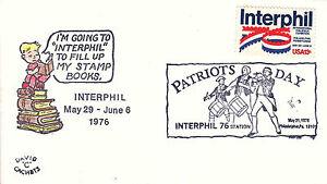 US Cover Sc# 1632 Interphil 76-canceled 5/31 Patriotsl Day w/cachet - US 8203
