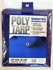Projex  40 ft. W x 60 ft. L Light Duty  Polyethylene  Tarp  Blue