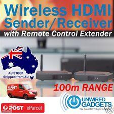 NEW 2.4GHZ HDMI AV SENDER/RECEIVER SMART TV PROJECTOR FOXTEL IQ3