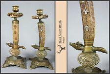 Antique Hunt Candlestick Candleholder in the shape of Hunt knife