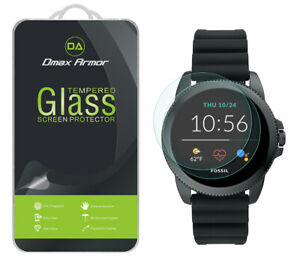 2x Dmax Armor Tempered Glass Screen Protector for Fossil Men's Gen 5E 44mm