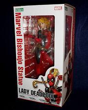 "Marvel Kotobukiya LADY DEADPOOL Bishoujo 9"" PVC Statue Figure 1/7 Scale X-Men"
