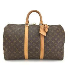100% Authentic Louis Vuitton Monogram Keepall 45 Boston Travel Hand Bag /11127