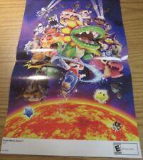 Super Mario Galaxy 15.5''x11.5'' Nintendo Power Collectible Double Sided Poster