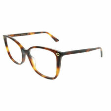 bc801d58878 Type  Folding Glasses. New Authentic Gucci GG0026O 002 Havana Plastic  Square Eyeglasses 53mm
