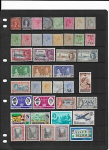 2 scans-Collection of MINT & good used Bahamas stamps.
