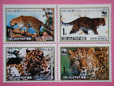 Korea 1998 Leopard WWF Blk/4 Wild Animal MNH Sc#3784-3787