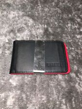 Red Yoomal Slim Mens front pocket Money Clip Wallet and card holder