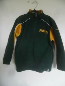 NFL Football Green Bay Packers Boys 1/2 Zip Up Sweater Sz 7