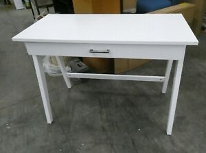 Paulo Wood Writing Desk with Drawer White - Project 62
