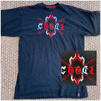 Coogi Logo Black T Tee Shirt Embroidered Cotton Men's Big And Tall Size 4X 4XL