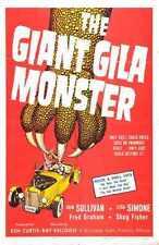 Giant Gila Monster 01 Metal Sign A4 12x8 Aluminium