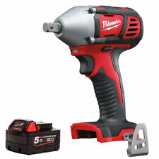 "Milwaukee M18BIW12-0 18V 1/2"" Impact Wrench with 1 x 5.0Ah M18B5 Battery"