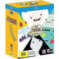 Adventure Time : Seasons 1 2 3 & 4 Blu-ray, Box Set 4 Disc Set-FREE POSTAGE rare