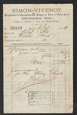 """LIGNY-en-BARROIS (55) USINE de SIEGES en rotin osier """"SIMON & VIVENOT"""" en 1904"""