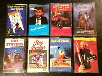 Comedy Lot of 8 Cassette Tapes Ray Stevens, Jerry Clower, Lewis Grizzard