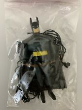 "3.25"" BATMAN TOY FIGURE With Parachute Parachutist Black & Gray"