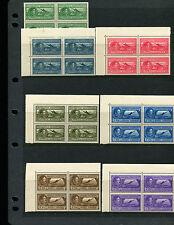Albania 1930 Airmail Sc C29-35 Blocks of 4 Never Hinged RARE