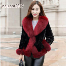 Nerz Kurzmantel Damen Fox Pelzkragen Winter Warme Jacke Parkas 2018 NEU  Luxus   a8037a6cba